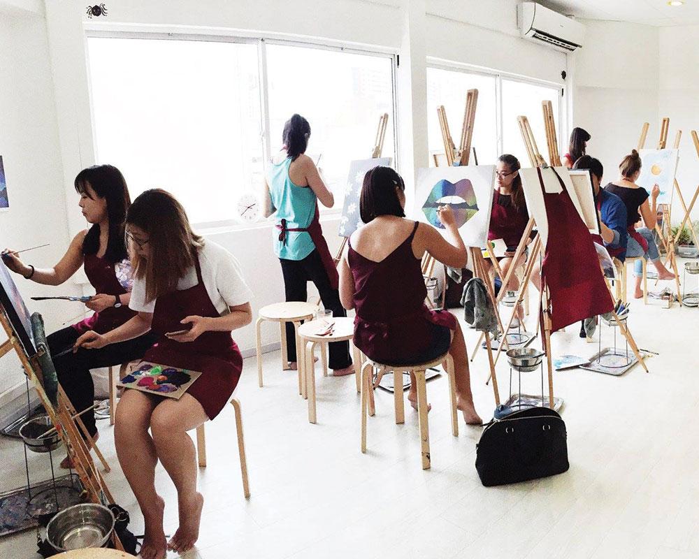art jamming team building singapore